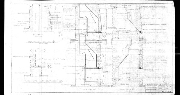A-8 Fireplace detail.
